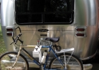 bike rack on airstream trailer